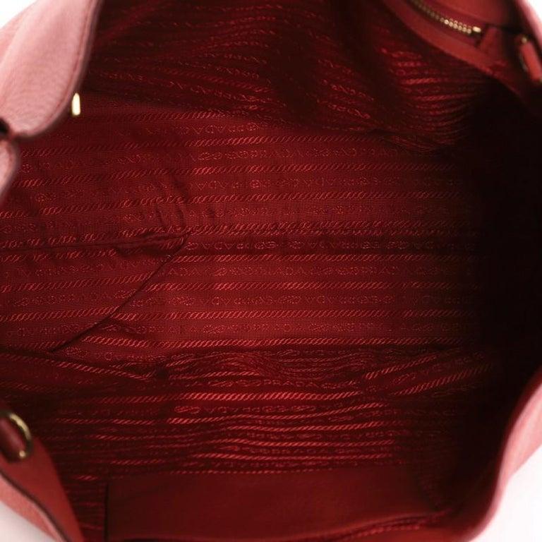 Prada Logo Embossed Convertible Tote Vitello Daino Large For Sale 1