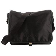 Prada Logo Messenger Bag Tessuto Medium