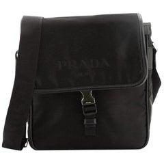 Prada Logo Messenger Bag Tessuto Small
