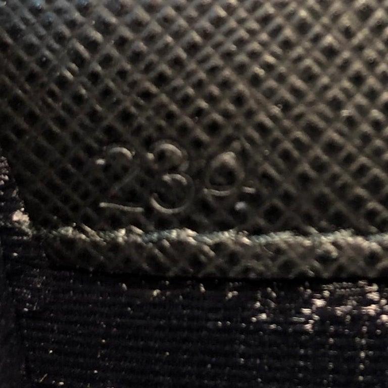 Prada Logo Patch Crossbody Bag Saffiano Leather Mini For Sale 3
