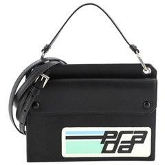 Prada Logo Patch Crossbody Bag Saffiano Leather Mini