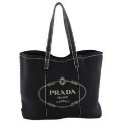 Prada Logo Shopping Tote Neoprene Large