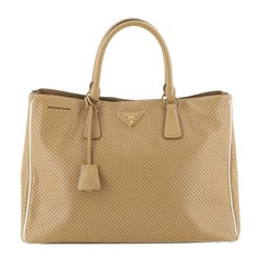 Prada Lux Open Tote Perforated Saffiano Leather Large