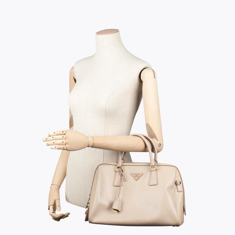 Prada Lux Saffiano Zip Bag For Sale 2