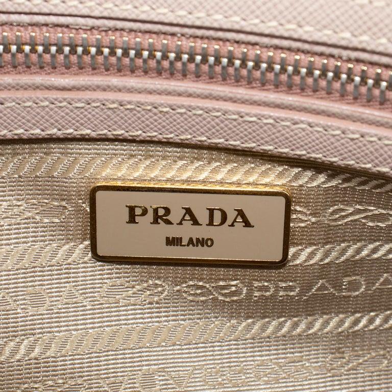 Prada Lux Saffiano Zip Bag For Sale 4