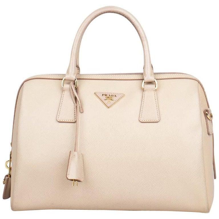 Prada Lux Saffiano Zip Bag For Sale