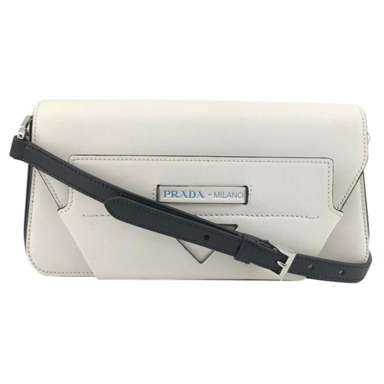 PRADA Manuelle Shoulder bag in White Leather