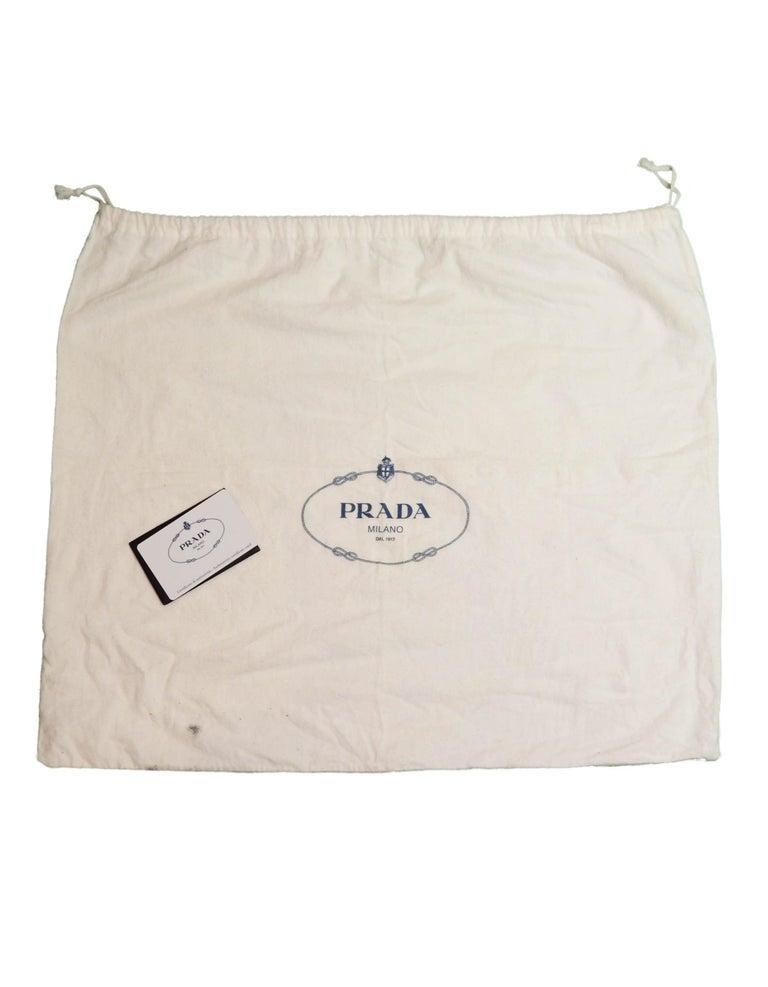 Prada Mare Blue Vitello Daino Leather Tote Bag w/ Strap rt. $1,970 For Sale 5