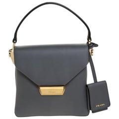 Prada Marmo Leather Small Ingrid Top Handle Bag