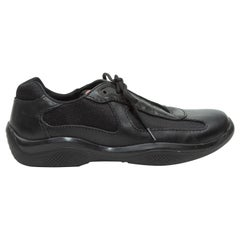Prada Men's Black Sport Leather Sneakers