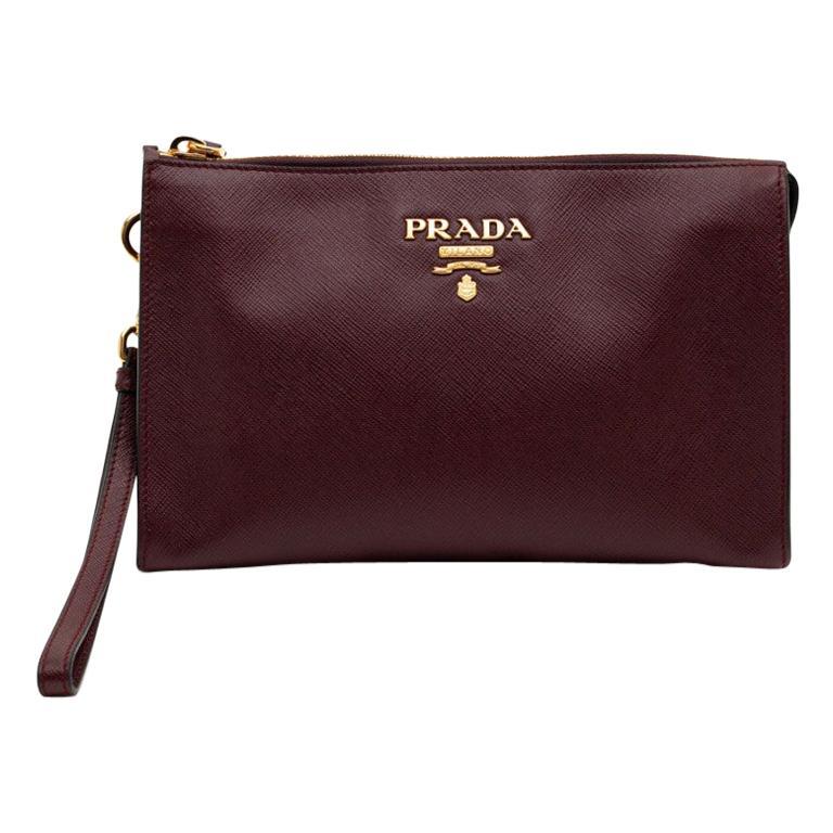 PRADA Men's Leather Clutch