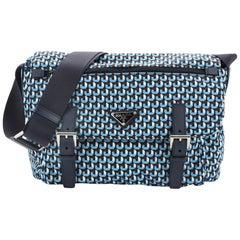 Prada Messenger Bag Printed Tessuto Small