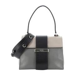 Prada Metal Ribbon Top Handle Bag City Calfskin Medium