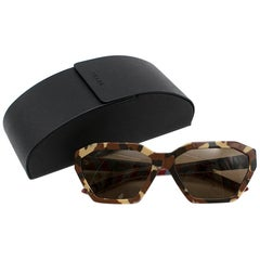 Prada Military Brown Disguise Sunglasses - Current Season One size