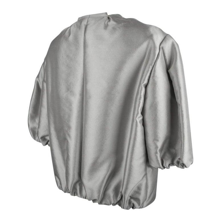 Prada Modern Jacket Soft Silver Elbow Area Sleeve 42 /  8 For Sale 6