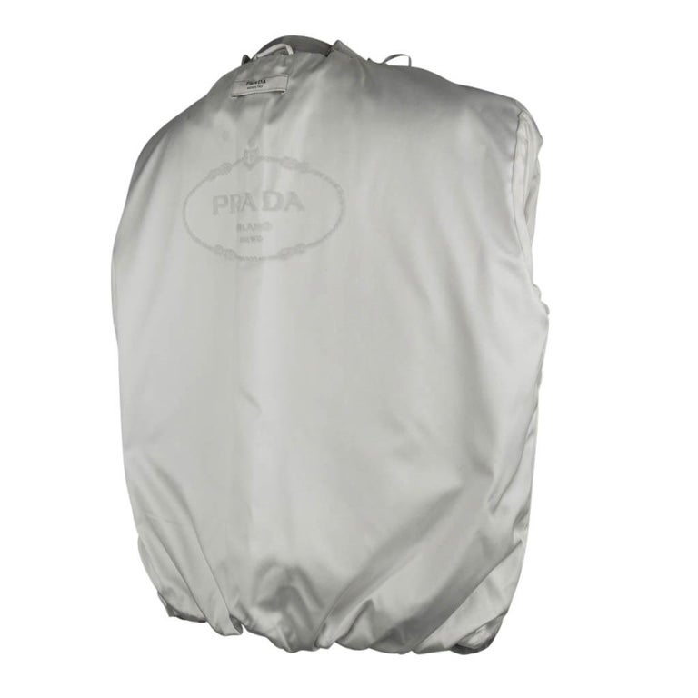 Prada Modern Jacket Soft Silver Elbow Area Sleeve 42 /  8 For Sale 7