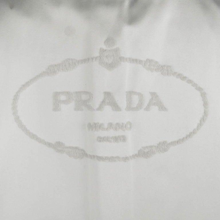 Prada Modern Jacket Soft Silver Elbow Area Sleeve 42 /  8 For Sale 8
