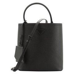 Prada  Monochrome Panier Bucket Bag Saffiano Leather Medium