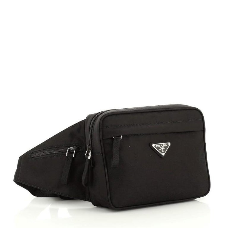Prada Montagna Belt Bag Tessuto Small In Good Condition For Sale In New York, NY