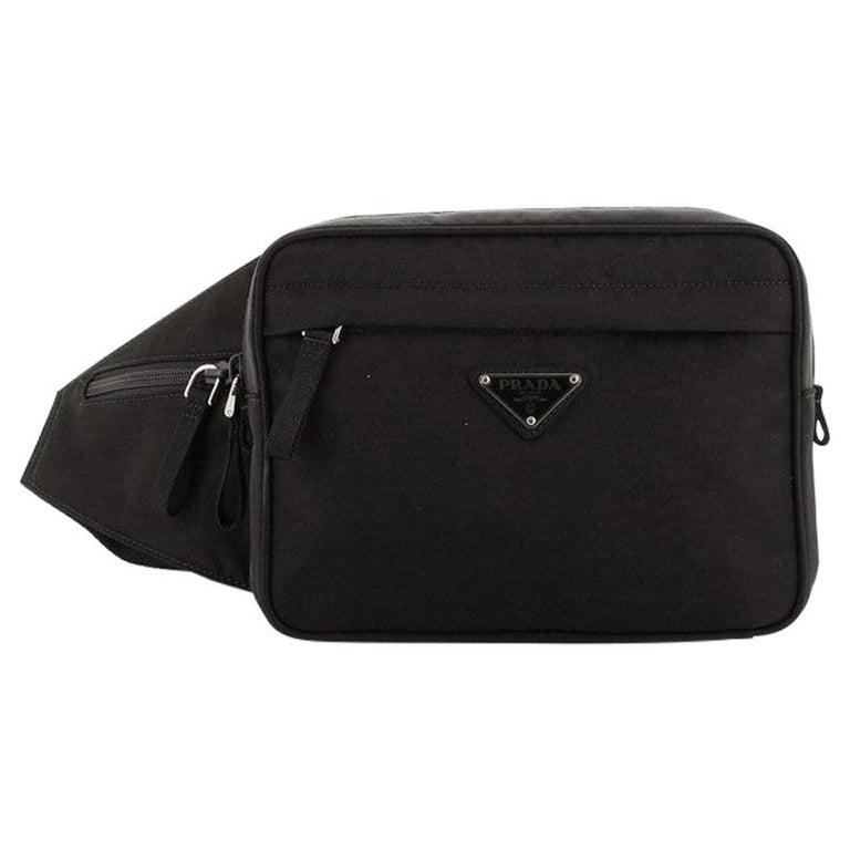 Prada Montagna Belt Bag Tessuto Small For Sale
