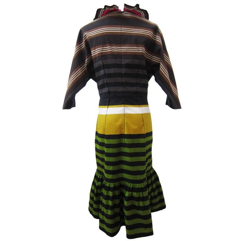Black Prada Multi Colour Stripe Dress ss 2011 For Sale