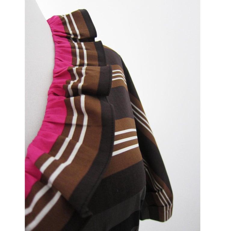 Women's Prada Multi Colour Stripe Dress ss 2011 For Sale