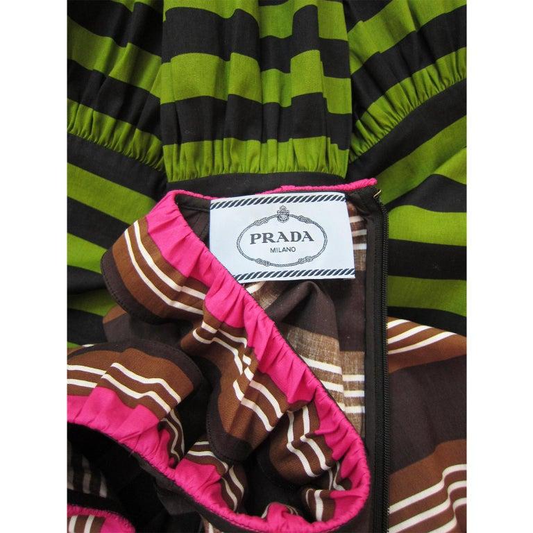 Prada Multi Colour Stripe Dress ss 2011 For Sale 1