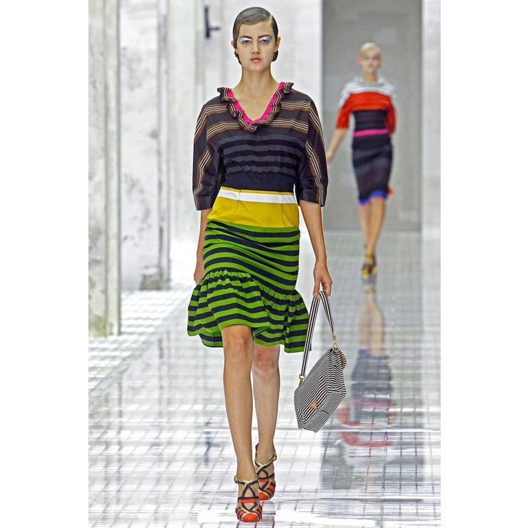 Prada Multi Colour Stripe Dress ss 2011 For Sale 2