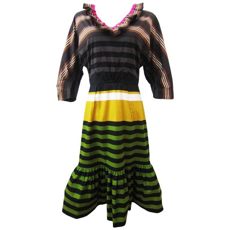 Prada Multi Colour Stripe Dress ss 2011 For Sale