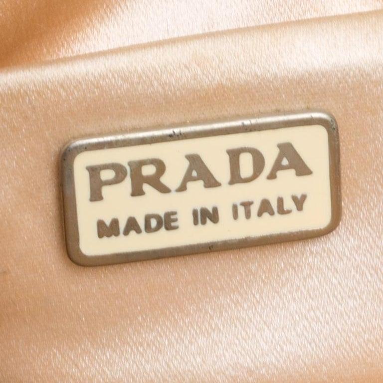 Women's Prada Multicolor Mesh/Sequins and Leather Shoulder Bag For Sale