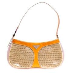 Prada Multicolor Mesh/Sequins and Leather Shoulder Bag