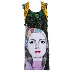Prada multicoloured embellished artist shift dress ss 2014