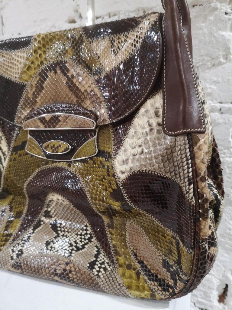 Women's Prada multicoloured python leather shoulder bag For Sale