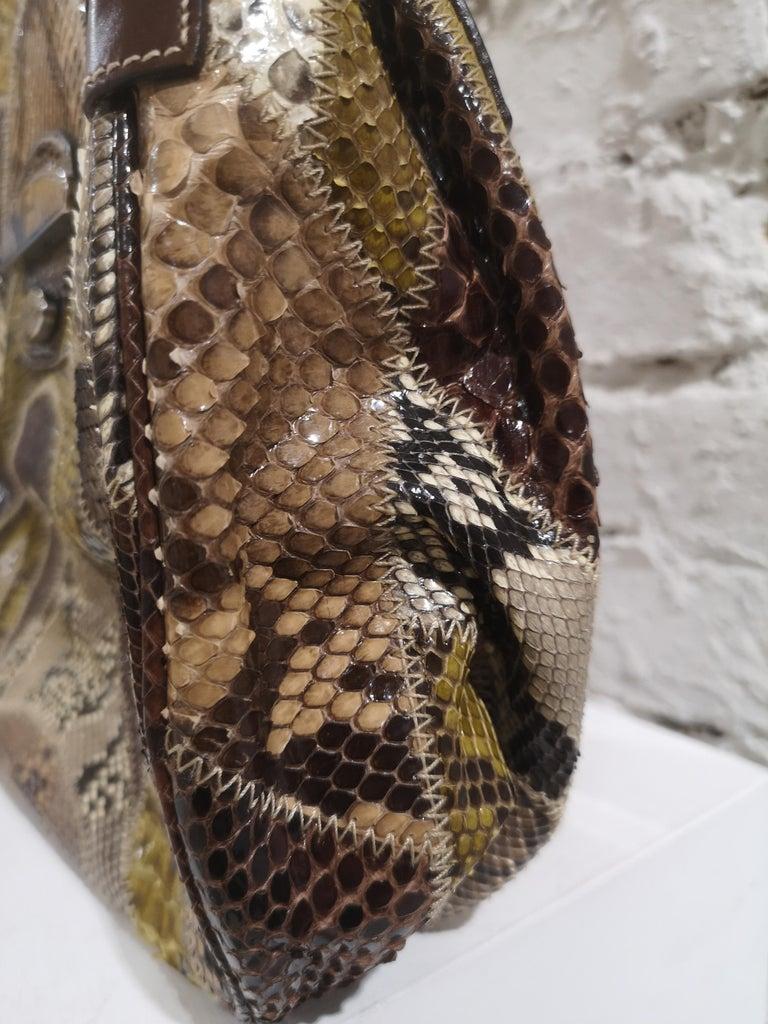 Prada multicoloured python leather shoulder bag For Sale 1