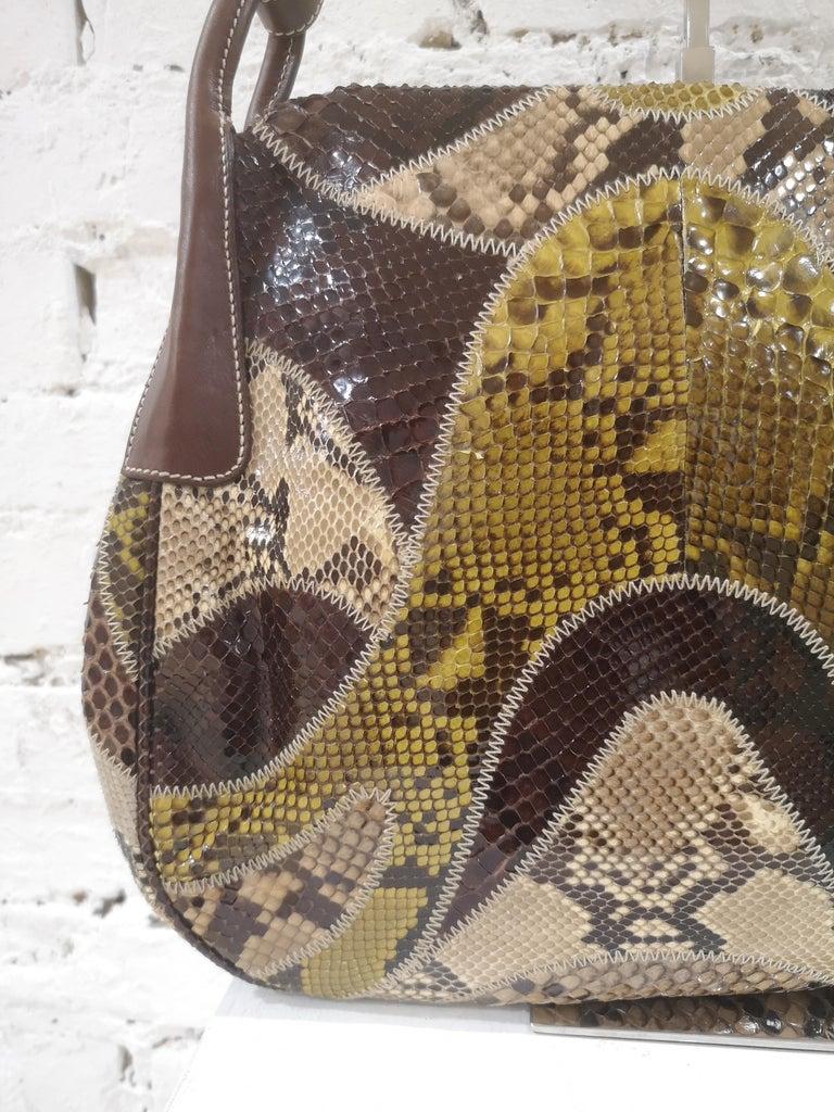 Prada multicoloured python leather shoulder bag For Sale 2