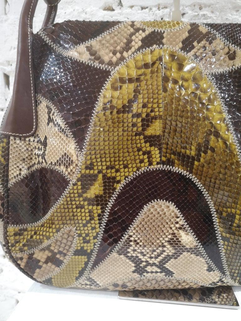 Prada multicoloured python leather shoulder bag For Sale 3