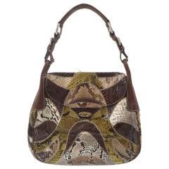 Prada multicoloured python leather shoulder bag