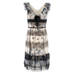Prada Multicoloured Silk Sequin Frill Dress	42 (IT)