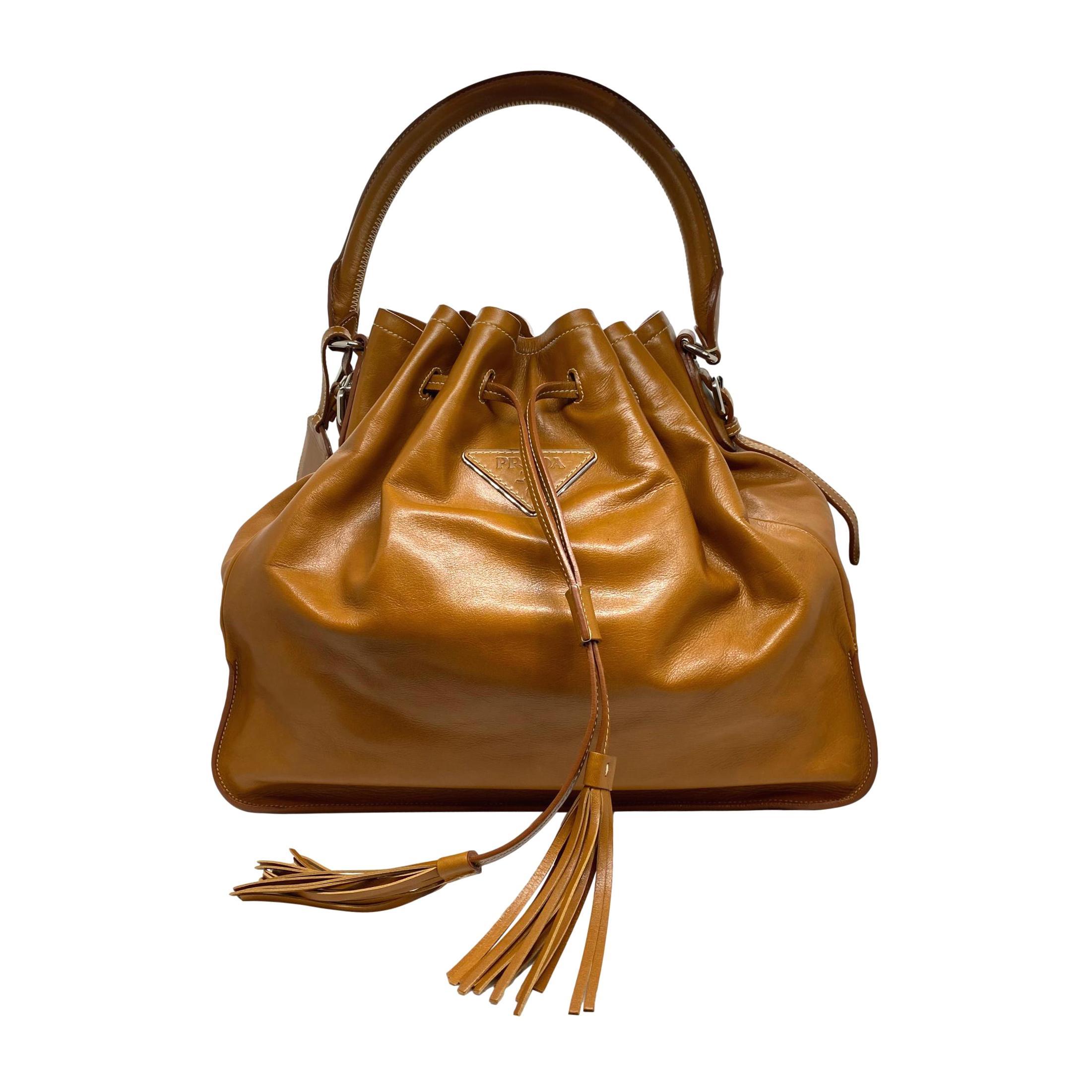 Prada Nappa Leather Drawstring Shoulder Top Handle Handbag, 2010.