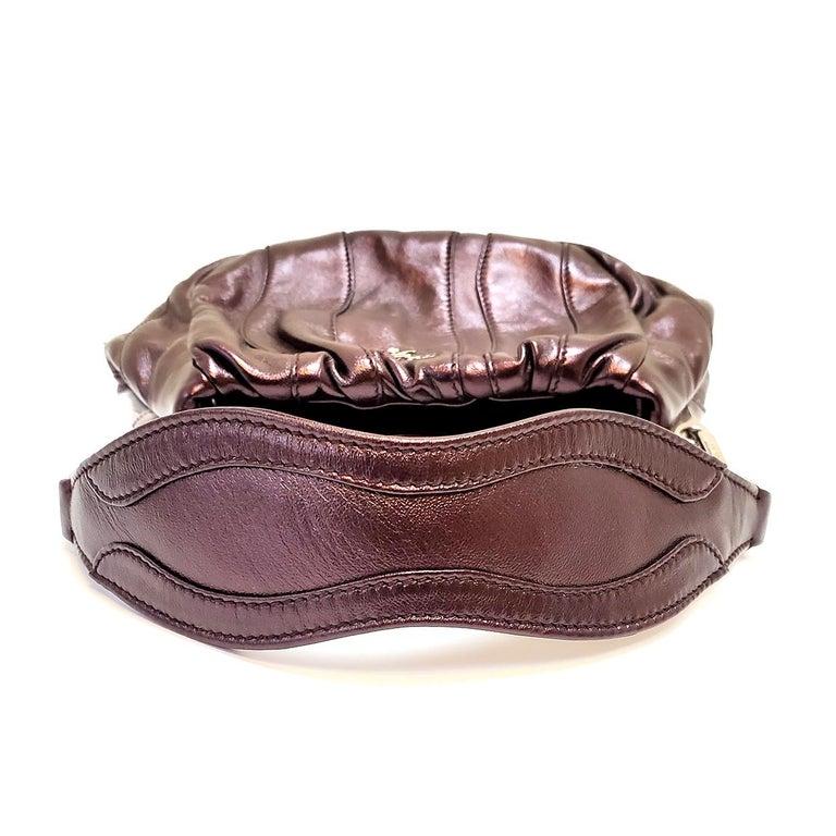 Women's Prada Nappa Waves Metallic Wine Hobo Bag For Sale