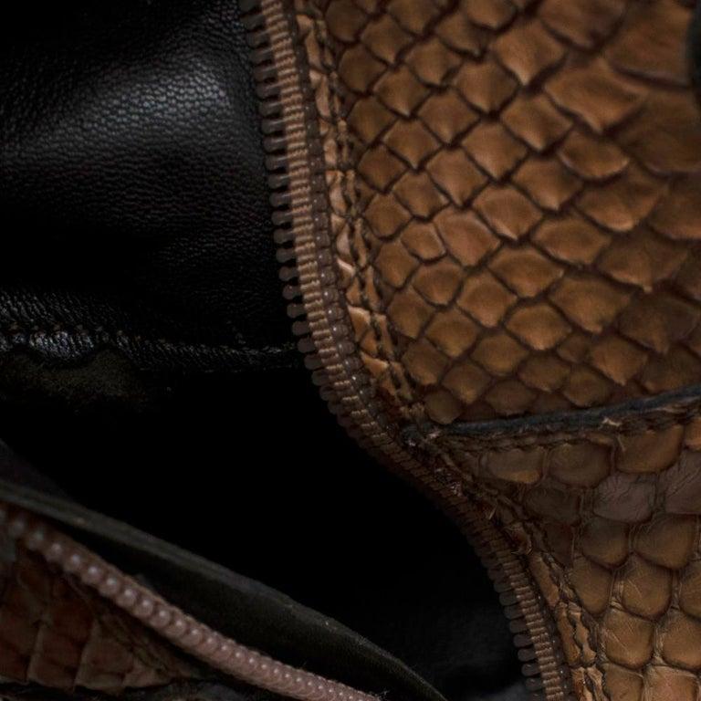 Prada Natural Snakeskin Western Inspired Boots - Size EU 37.5 For Sale 1