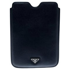 Prada Navvy Blue Saffiano Lux Leather iPad Case