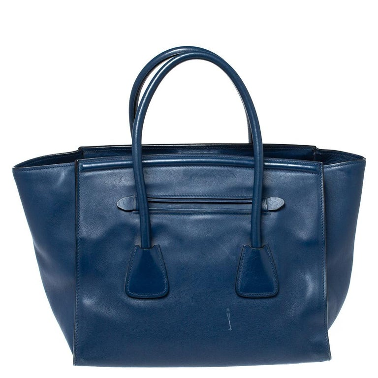 Navy Millenial Leather Tote