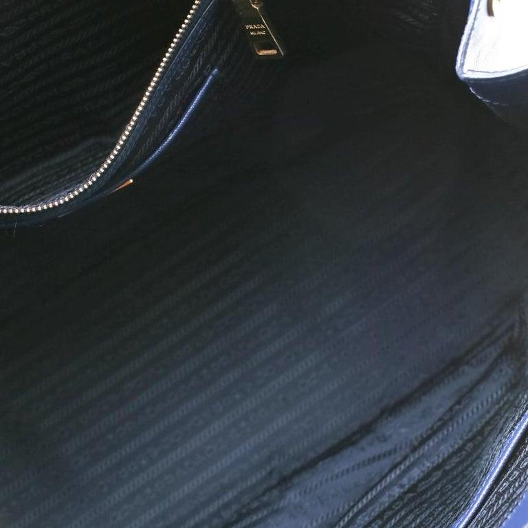 Prada Navy Blue Saffiano Leather Executive Double Zip Tote 2