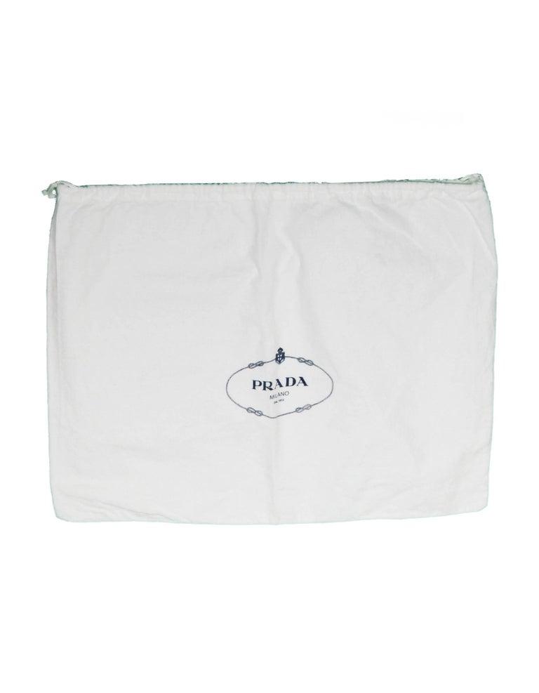 Prada Navy Blue Tessuto Nylon 2 Way Tote Bag w/ Strap 1BA104 For Sale 6