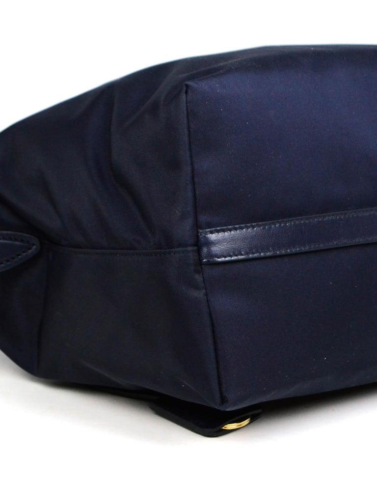 Prada Navy Blue Tessuto Nylon 2 Way Tote Bag w/ Strap 1BA104 For Sale 1