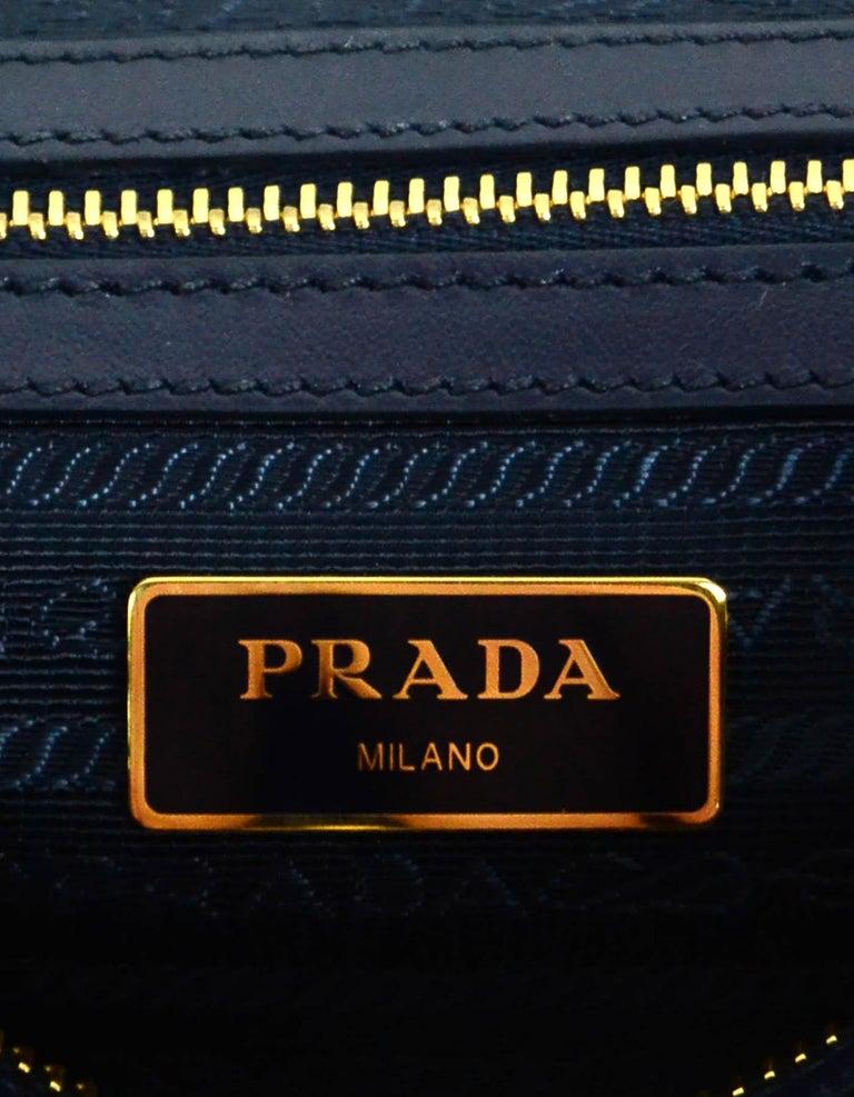 Prada Navy Blue Tessuto Nylon 2 Way Tote Bag w/ Strap 1BA104 For Sale 3
