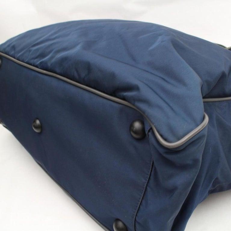 1a9834e0cba2 Prada Navy Tessuto Sports Tote 868071 Blue Nylon Weekend/Travel Bag For  Sale 2