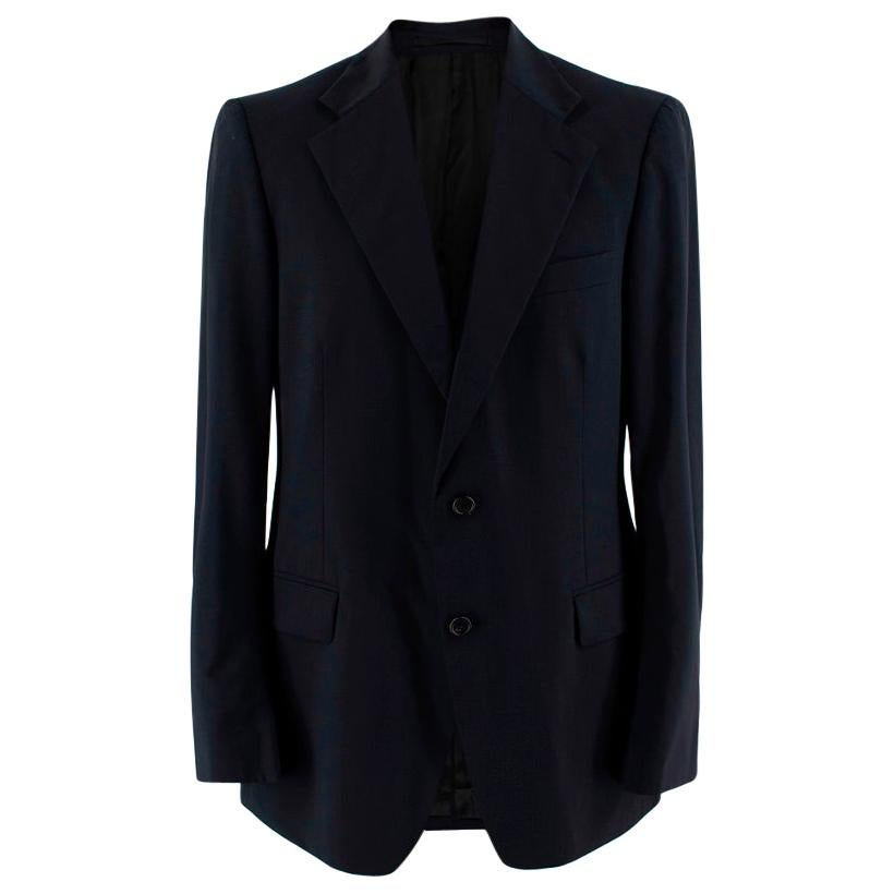 Prada Navy Wool Single Breasted Tailored Jacket - Size 50R