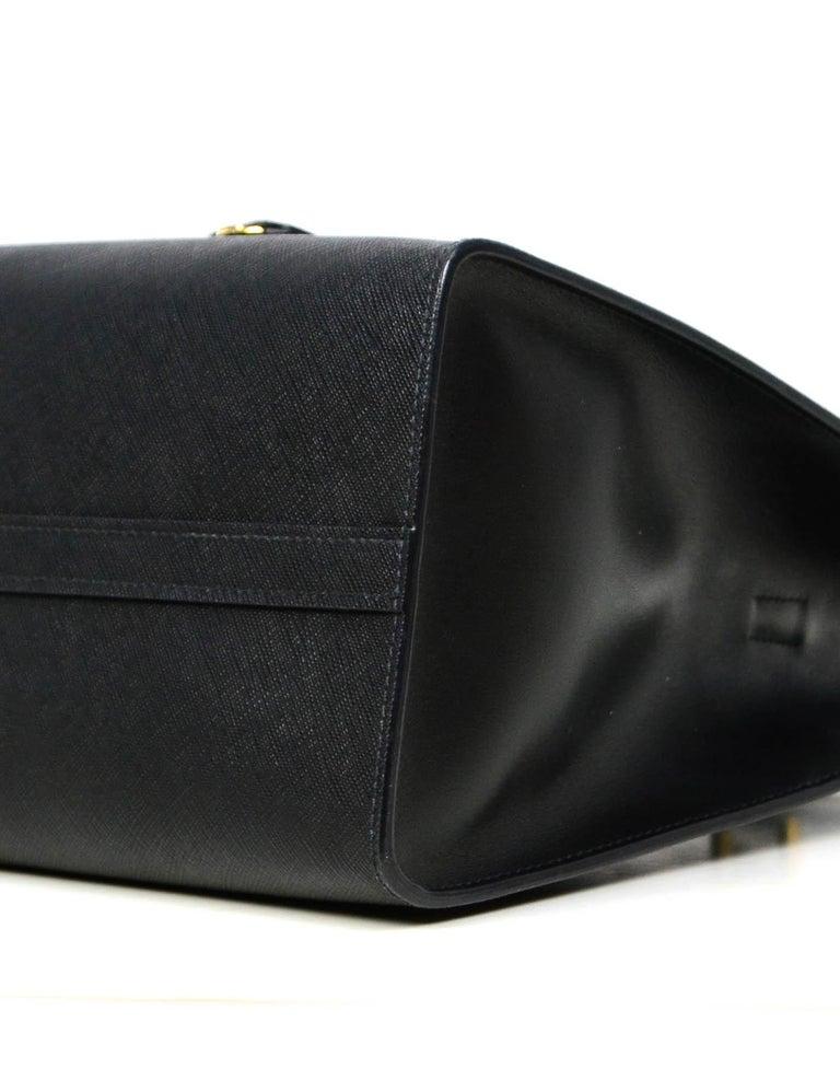 Prada Nero Black Saffiano Leather Lux Convertible Tote Bag w/ Strap 1BA118 For Sale 1